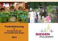 Ferienbetreuung an Grundschulen der Stadt ... - Familie in Siegen