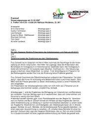 Ergebnis-Protokoll vom 21.02.2007 - Familie in Siegen