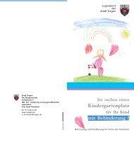 Betreuung und Förderung im Sinne der Inklusion - Familie in Siegen