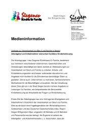 Medieninfo-Ergebnisse Umfrage - Familie in Siegen