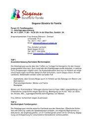 Protokoll AG 4 14.11.2007 - Familie in Siegen