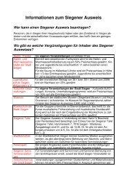 Informationen zum Siegener Ausweis klick hier - Familie in Siegen