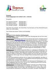 Protokoll 7 Steuerungskreis - Familie in Siegen