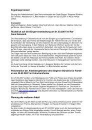 Protokoll AG3 vom 22.03.2007 - Familie in Siegen