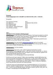 Protokoll Steuerungsgruppe vom 31.08.2007 ... - Familie in Siegen