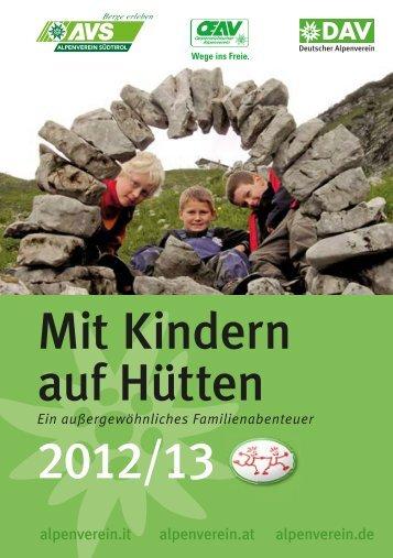 Mit Kindern auf Hütten 2012/13 - Familie und Sport
