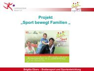 "Referat/Workshop Kenn-Nr. ""Titel"" - Familie und Sport"