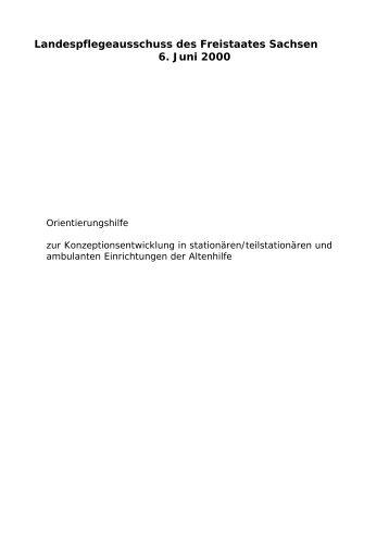 Landespflegeausschuss des Freistaates Sachsen 6. Juni ... - Familie