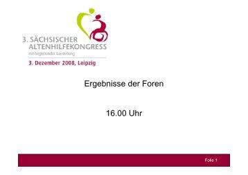 Ergebnisse der Foren 16.00 Uhr - Familie - Freistaat Sachsen