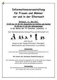 Plakat Mai 2011 - Familien an der TU Clausthal