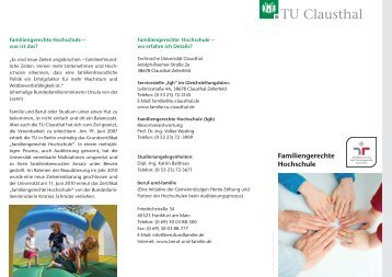 Flyer 3 FGH - Familien an der TU Clausthal - Technische Universität ...