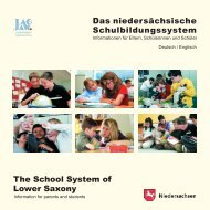 The School System of Lower Saxony - Familien an der TU Clausthal