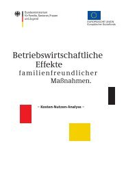 Betriebswirtschaftliche Effekte - Familien an der TU Clausthal