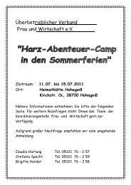 Plakat Harz-Abenteuer-Camp - Familien an der TU Clausthal