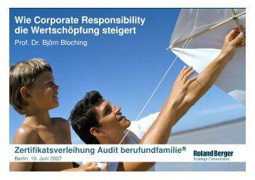 Wie Corporate Responsibility die Wertschöpfung steigert