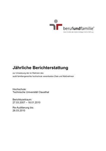 Gesamtbericht 2007/2010 - Familien an der TU Clausthal ...