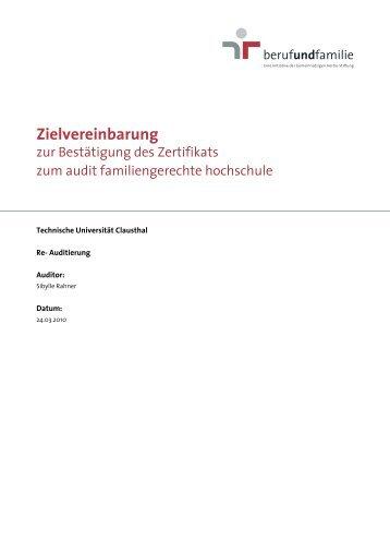 Zielvereinbarung - Familien an der TU Clausthal - Technische ...