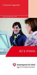 BIZ & DONNA Programm 2011 - Familien-Willkommen