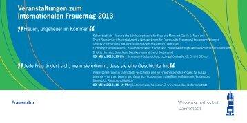 Veranstaltungen zum Internationalen Frauentag 2013 - Familien ...