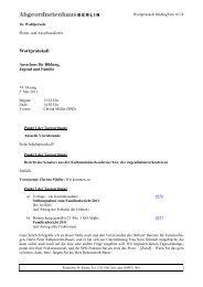 Wortprotokoll - Berliner Beirat für Familienfragen