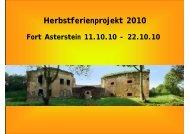 Herbstferienprojekt 2010 - Koblenzer Bündnis für Familie