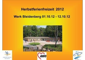 Herbstferienfreizeit 2012 - Koblenzer Bündnis für Familie
