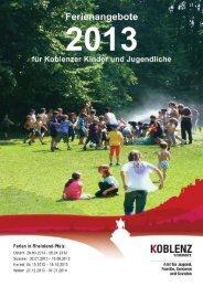 Ferienangebote - Koblenzer Bündnis für Familie