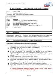Protokoll zum 29. Bündnistreffen am 03.02.2009 - Lokales Bündnis ...