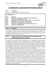 Protokoll zum 31. Bündnistreffen am 14.05.2009 - Lokales Bündnis ...
