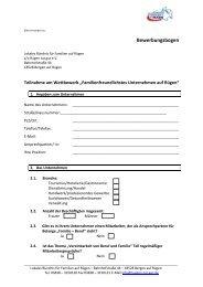 Bewerbungsbogen - Lokales Bündnis für Familien auf Rügen
