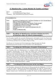 33. Bündnistreffen - Lokales Bündnis für Familien auf Rügen