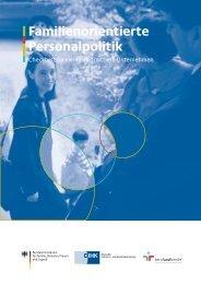 Checkheft familienorientierte Personalpolitik