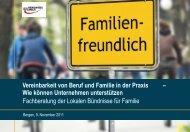 Vereinbarkeit von Beruf und Familie in der Praxis - Lokales Bündnis ...