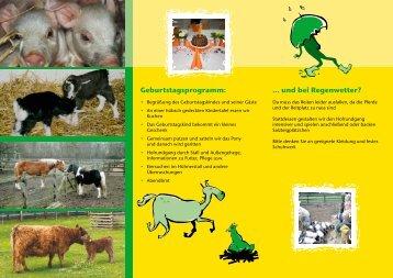 Kindergeburtstage - Familienfarm Lübars