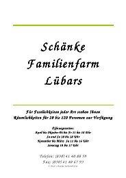 Sommerkarte 2011 - Familienfarm Lübars