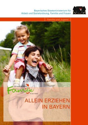 """""""Allein erziehen in Bayern""""."""