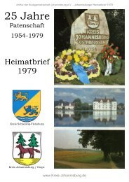 Johannisburger Heimatbrief 1979 - Familienforschung S c z u k a