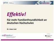 Effektiv! Für mehr Familienfreundlichkeit an deutschen Hochschulen
