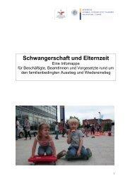 Schwangerschaft und Elternzeit - Eine Infomappe für Beschäftigte ...