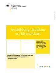Ausbildung, Studium und Elternschaft - Bundesministerium für ...