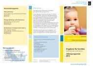 Netzwerk Junge Eltern/Familien mit Kindern bis zu drei Jahren