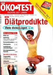 Öko Test Ausgabe 2 2010 - fairlife