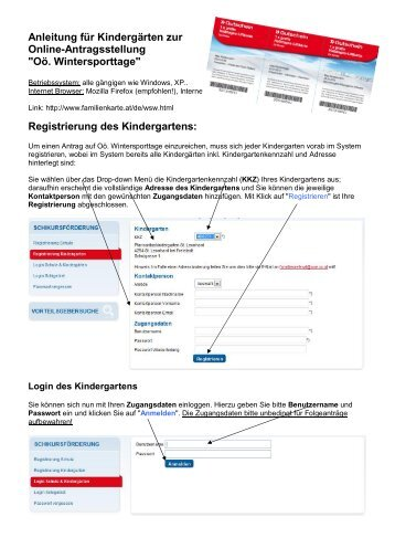 Anleitung Online-Antragsstellung für Kindergärten - Die OÖ ...