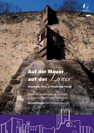 Auf der Mauer auf der Lauer - KulturRegion Frankfurt RheinMain