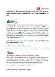 Partner, die noch über den 24. Dezember 2012 hinaus oder e