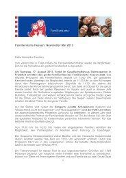 Familienkarte Hessen: Newsletter Mai 2013