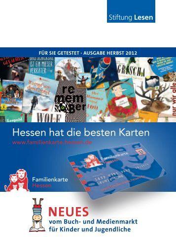 """Die aktuelle Broschüre """"Für Sie getestet"""" - Familienkarte Hessen"""