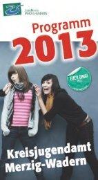Jahresprogramm des Kreisjugendamtes 2013 - Landkreis Merzig ...