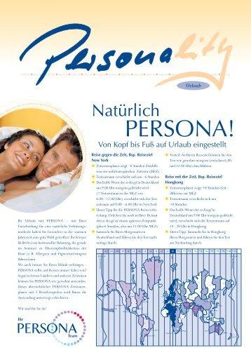 PERSONA Zeitzonen-Planer - Familienplanung