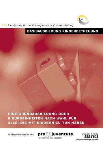 BASISAUSBILDUNG KINDERBETREUUNG EINE ... - Familienservice